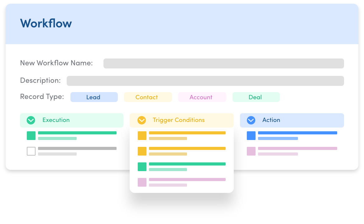 Workflow automation CRM